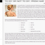 To DIY or Not to DIY: Prom Hair